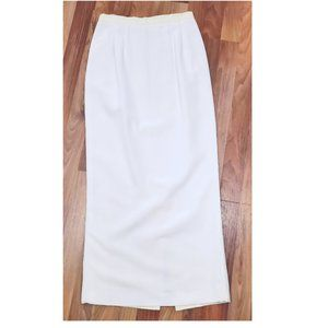 KARL LAGERFELD Vtg 80s White Column Maxi Skirt GUC